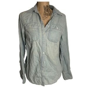 Merona light denim button down long sleeve shirt